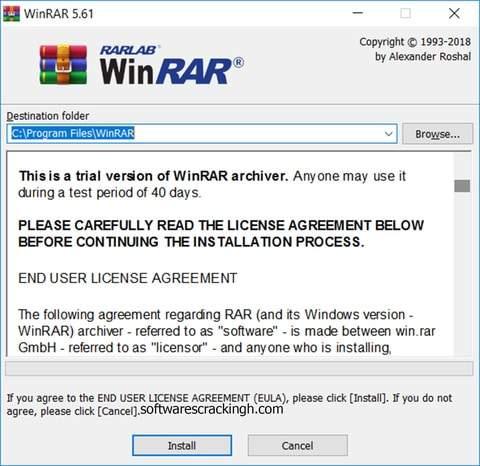 WinRAR 5.61 Crack free