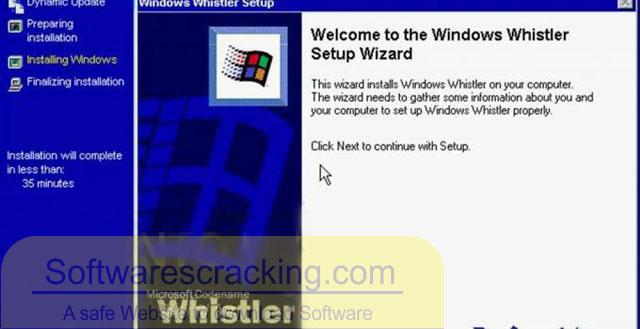 WindowsWhistler Free download Operating System